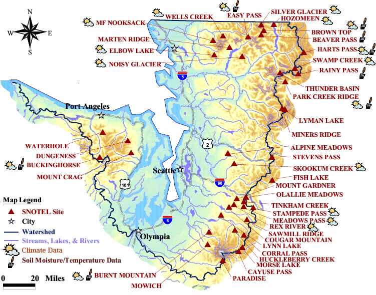 Puget sound basin map nrcs oregon click on a snotel sitename or symbol to access data and site information sciox Choice Image