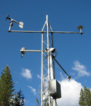Climate Sensors at a SNOTEL Site