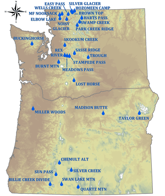 Washington Climate Map