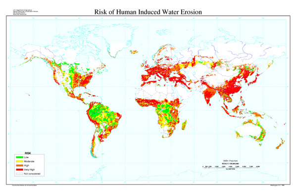 Risk of Human-Induced Water Erosion Map