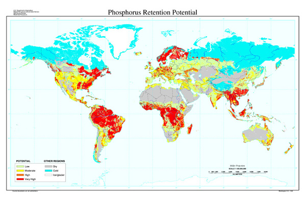 Phosphorus Retention Potential Map
