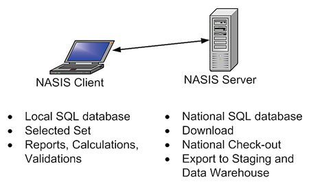 NASIS Client-Server relationship graphic.