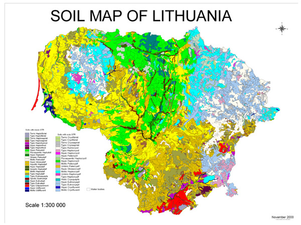 Soil Map of Lithuania | NRCS Soils