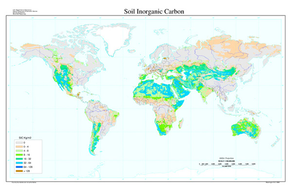 Soil Inorganic Carbon Map