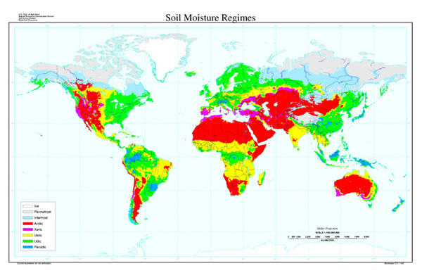 Soil Moisture Regimes Map