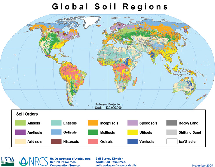 global soil regions map