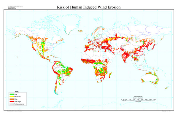 Risk of Human-Induced Wind Erosion Map