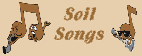 Soil Songs title with music symbols