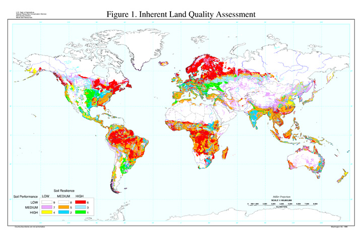 Global land resources population supporting capacity for Soil resources definition