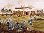 Soil painting of Monticello.