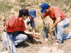 photo of soil scientists in the field