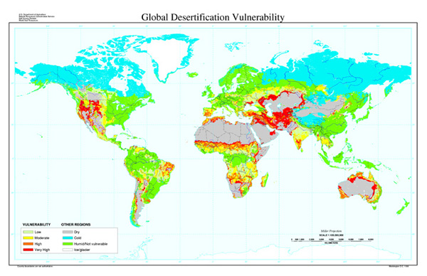 Map Of Texas Natural Resources.Global Desertification Vulnerability Map Nrcs Texas