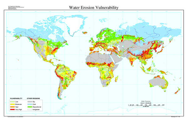 Vulnerability to Water Erosion Map