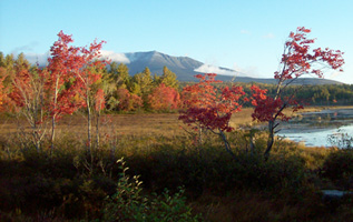Photo of Katahdin, Maine's highest mountain, Piscataquis County.