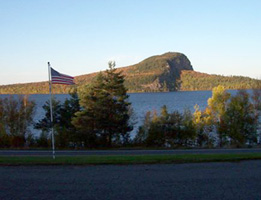Photo of Mount Kineo, adjacent Moosehead Lake, Maine.