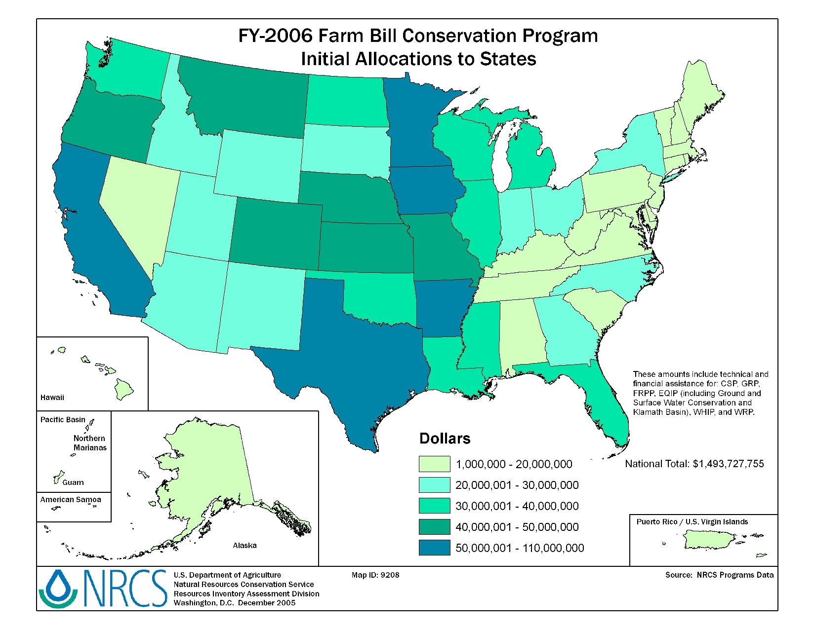 FY-2005 Conservation Program Allocations to States | NRCS