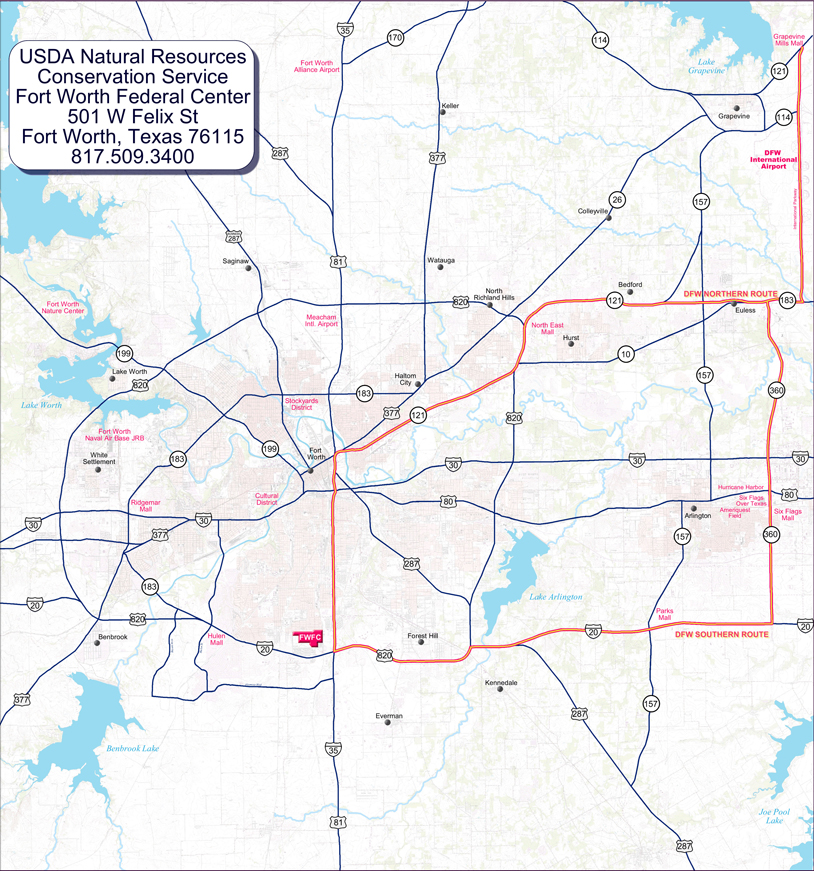 Fort Worth Map | NRCS