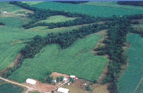 Aerial view of Gille Farm.