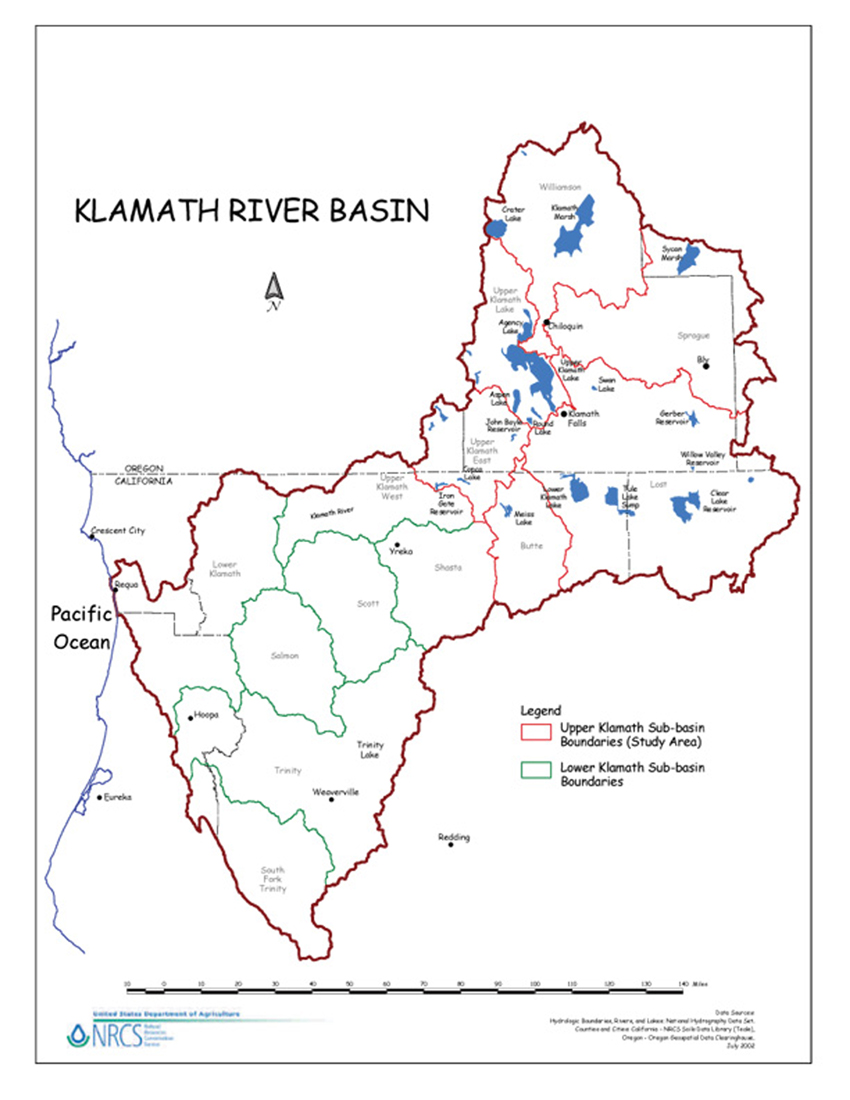 Klamath River Basin | NRCS on klamath mountains map, lake of the woods map, klamath marsh map, trinity lake map, klamath national forest map, highland map, morgan hill map, klamath basin map, lower klamath national wildlife refuge map, southern oregon northern california map, klamath lake map, prairie creek redwoods state park map, trinity county map, roosevelt national forest trail map, oregon rivers map, klamath county map, six rivers national forest map, humboldt county map, redwood national and state parks map,