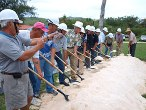 Kagam ARRA groundbreaking.  Courtesy Marianas Daily Variety.