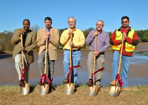 On November 16, Georgia State Conservationist James E. Tillman, Sr., announced ground-breaking ceremonies and project reviews at three ARRA dam rehabilitation sites. NRCS image.