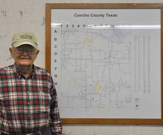 For over a half century, Ben Sims has been active in the agriculture business and preserving the natural resources of Concho County.