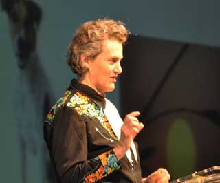 Temple Grandin, world-renowned livestock behaviorist and handling expert spoke during the closing general session.