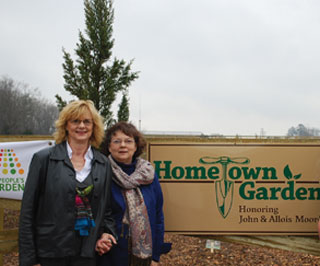 ill Burkindine of Manhattan, Kan., and Jane Ray of Carthage, Texas, sisters, own the land where the more than one acre Hometown Garden is located at the USDA Service Center in Carthage. This is a unique garden. It�s a U.S. Department of Agriculture People�s Garden national initiative site. It also is the only privately owned initiative garden in the world.