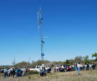 Bowen ratio station is used to obtain evapotranspiration data for the paired watershed project.
