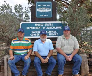 Pictured from left to right are Randy Kuehler, Gary Rea, and Brandon Carr.