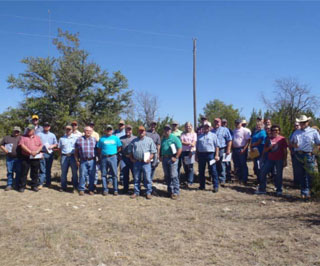 Participates that attended the workshop at the Hunewell Ranch on Sept. 19 received a presentation from Jeff Goodwin, NRCS Texas GLCI coordinator, helping the agricultural teachers prepare for the new Range Evaluation and Management CDE.