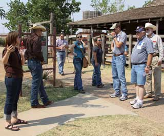 On one of the tour stops, members were provided the opportunity to experience a step back in time during a tour of the National Ranching Heritage Center, part of the Texas Tech University Campus.