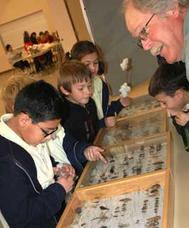 Students from St. Ann�s Catholic School of Midland enjoy an entomology learning station during this year�s Texas AgriLife Extension�s Third Grade Farm Tour held in Garden City, Texas.