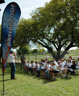 Water safety was just one of the educational stations made available at this year�s Farm Safety Day held in Llano, Texas.