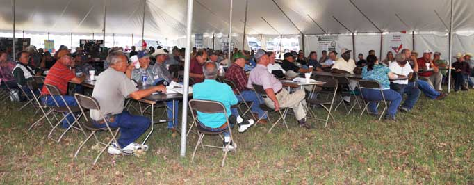 Upwards of 150 people attended the 25th Annual Dr. O.D. Butler Memorial Forage Field Day held at Circle X Land & Cattle Company in Bryan.