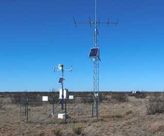 An NRCS Soil Climate Analysis Network (SCAN) station where precipitation data is collected.