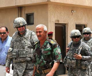 Major General Eddy Spurgin, United States Division-South Commanding General conducts Key Leader Engagements with Iraqi military senior leaders in southern Iraq.
