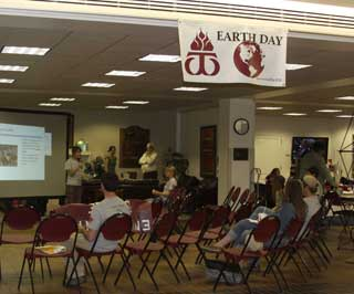 Environmental Student presents at Earth Day forum