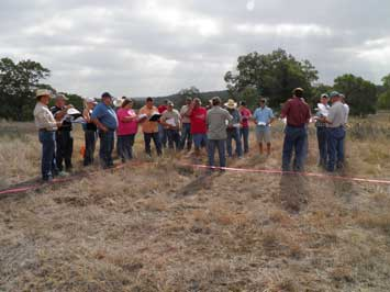 Agriculture teachers from around the central Texas area participated in the newly adopted method of judging range in training provided by the Natural Resources Conservation Service.