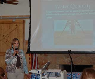 NRCS State Resource Conservationist, Susan Baggett was keynote speaker at the at HMI's seminar at Cedar Creek, near Austin where she presented a program on women in agriculture.