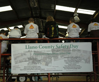 Students from Llano and Kingsland ISD listened and learned about safety practices that can be utilized in everyday life during the 5th Annual Farm Safety Day.