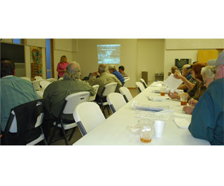 Jim Rogers, NRCS wildlife biologist spoke recently at a Wetlands Reserve Program workshop held recently in Centerville. Attendees came from Leon and Walker counties.