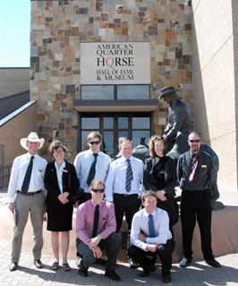 The Nuffield Scholars in front of the AQHA Museum in Amarillo, the first stop on their week-long tour showcasing agriculture in Texas.
