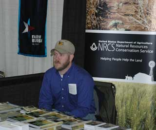 Kaleb Pool at NRCS Booth