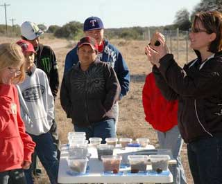 The 30th Annual 6th-Grade Ecological Field Day offered a variety of conservation education. NRCS soil scientist, Amanda Bragg discusses soils with students.