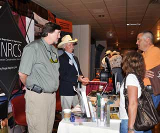 NRCS participated in the beef cattle short course tradeshow which had 120 exhibitors. A steady flow of attendees visited with NRCS personnel about conservation planning and practices.