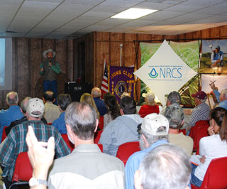 A capacity crowd filled the Iola Community Center for the 17th Annual Clover Forage Field Day.