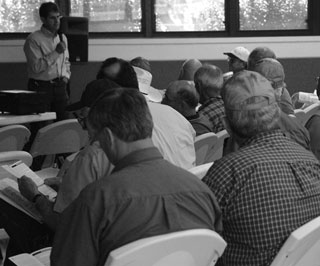 Dr. Bob Lyons, Texas AgriLife Extension Range Specialist, was part of the educational seminar during the Llano County Beef and Range Field Day. He discussed estimating grazeable acreage for grass management.