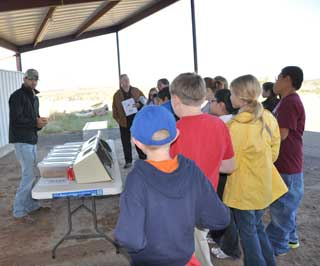 Travis Fisher, with the San Angelo Nature Conservancy, presented a variety of snakes and explained the benefits they provide to our ecosystem and handling safety during the annual Coke County Soil and Water Conservation District Conservation Day.