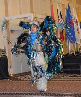 The Youth Drum & Dance Group: Spirit of the Buffalo Dancers & Singers, Blackfeet Tribe, Browning, Mont., opened each day's General Session.